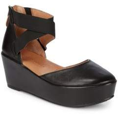 Gentle Souls Nyssa Leather Wedge Sandals
