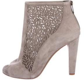 Diane von Furstenberg Peep-Toe Ankle Boots