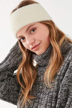 Urban Outfitters Fuzzy Knit Pearl Headband