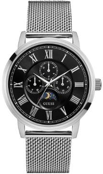 GUESS Men's Silver-Tone Multifunction Style Watch