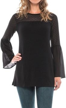 August Silk Swiss Dot Shirt - Long Sleeve (For Women)