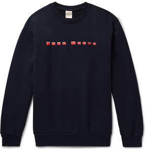 Noon Goons Printed Fleece-Back Cotton-Jersey Sweatshirt