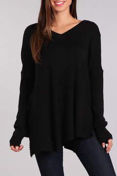 Blvd V-Neck Long Sleeve Sweater