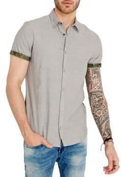 Buffalo David Bitton Camo-Panel Short-Sleeve Shirt