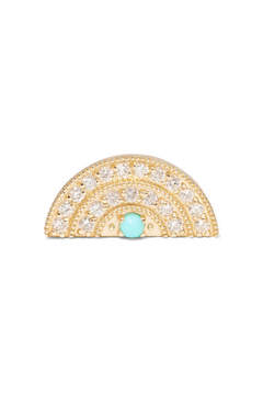 Andrea Fohrman 18-karat Gold, Diamond And Turquoise Earring