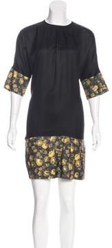 Band Of Outsiders Floral Print Midi Dress