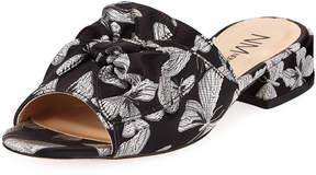 Neiman Marcus Sancha Butterfly Jacquard Slide