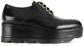 Prada lace-up platform shoes