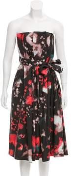 Cacharel Strapless Printed Dress
