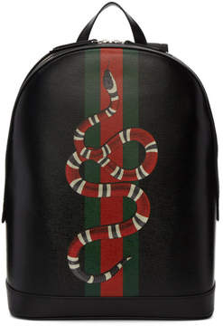 Gucci Black Web and Kingsnake Backpack