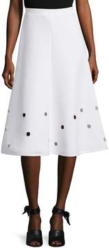 Cynthia Rowley Women's Embroidered Eyelets Full Skirt