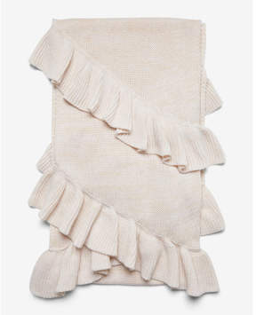 Express marled double ruffle oblong scarf