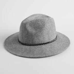 World Market Grey Wool Rancher Hat