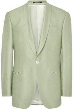 Richard James Light-Green Hyde Slub Silk Tuxedo Jacket