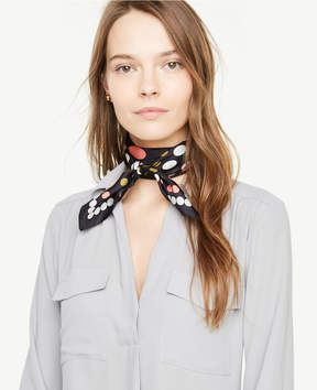Ann Taylor Dotted Silk Little Scarf