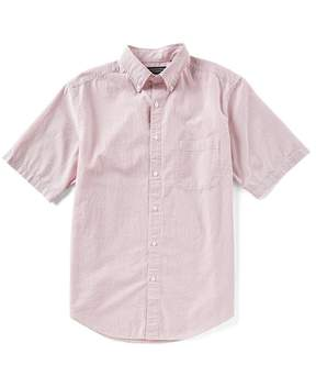 Roundtree & Yorke Big & Tall Cooler Comfort Seersucker Short-Sleeve Stripe Sportshirt