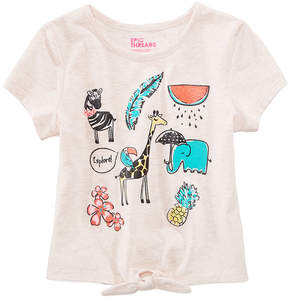 Epic Threads Safari Graphic-Print T-Shirt, Little Girls, Created for Macy's