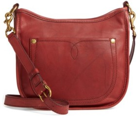 Frye Campus Rivet Leather Crossbody Bag - Red