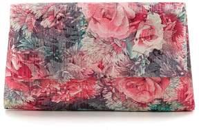 Adrianna Papell Sophia Metallic Floral Clutch