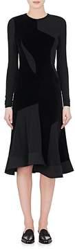 Esteban Cortazar Women's Jersey & Velvet Long-Sleeve Dress