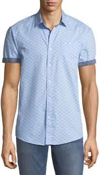 Report Collection Short-Sleeve Bird-Print Oxford Shirt