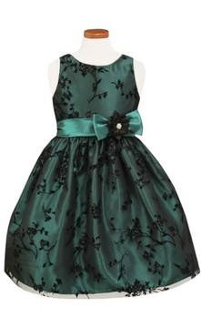 Sorbet Girl's Taffeta Fit & Flare Dress