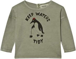 Bobo Choses Khaki Keep Waters Tidy Long Sleeve T-Shirt
