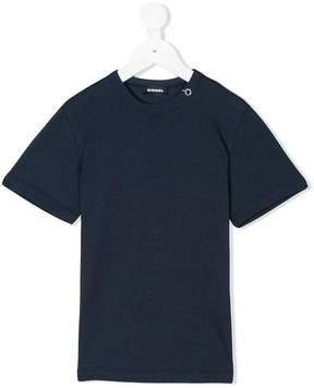 Diesel eyelet neckline T-shirt