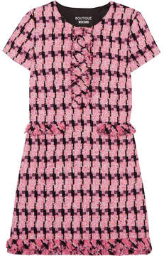 Moschino Tweed Mini Dress - Fuchsia