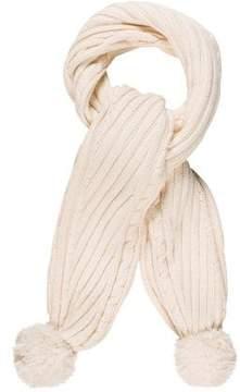 Diane von Furstenberg Pom-Pom Wool Scarf
