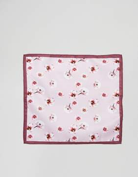 Asos DESIGN floral pocket square in pink