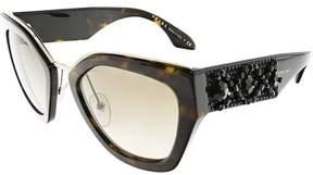 Prada Women's PR10TS-2AU3D0-52 Brown Geometric Sunglasses