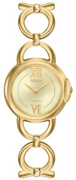 Citizen Jolie EX1452-53P Gold Stainless Steel Analog Eco-Drive Womens Watch