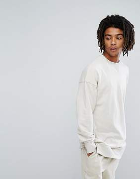 New Look Dropped Shoulder Sweatshirt In Ecru