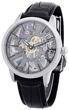 Maurice Lacroix Masterpiece Skeleton Stainless Steel Strap Watch