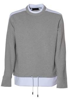 Diesel Black Gold Men's Grey Cotton Sweatshirt.
