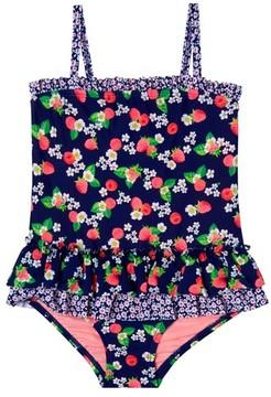 Hula Star Toddler Girl's Sweet Raspberries One-Piece Swimsuit