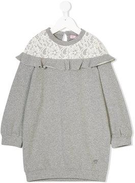 Miss Blumarine lace detail sweat dress
