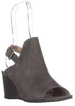 Esprit Angie Peep-toe Wedge Bootie Sandals, Grey.
