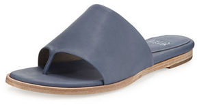 Eileen Fisher Edge Leather Thong Sandal, Dark Mulberry