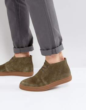 Selected Dempsey Suede Chukka Boots In Khaki