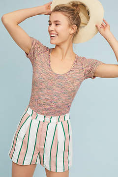 Anthropologie Striped Taylor Shorts