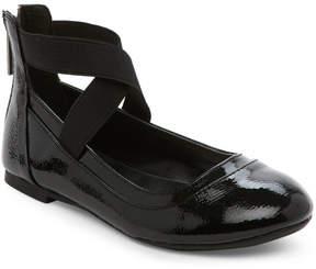 Nina Kids Girls) Black Alicea Ankle Strap Ballet Flats