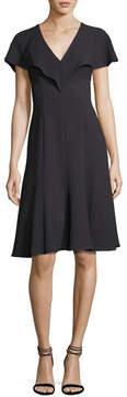 Black Halo Cisco Fit-and-Flare Scuba Dress, Equinox