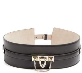VALENTINO Rockstud-embellished leather waist belt