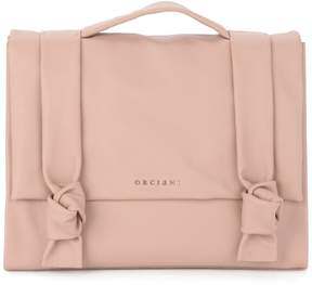 Orciani Bella Pink Tumbled Leather Satchel