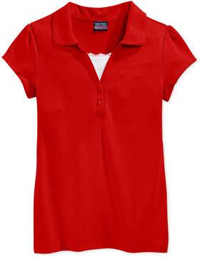 Nautica School Uniform Layered-Look Polo Shirt, Big Girls Plus (8-20)