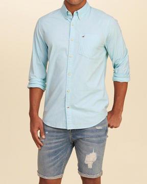 Hollister Stretch Poplin Shirt