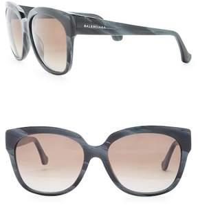 Balenciaga Women's 59mm Square Plastic Sunglasses
