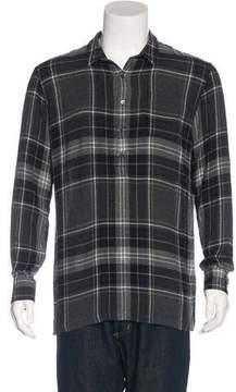 Public School Plaid Flannel Popover Shirt